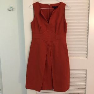 Banana Republic burnt orange linen dress